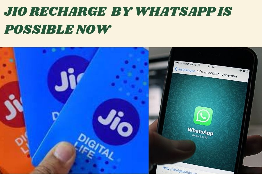 how to recharge your Reliance Jio no  on WhatsApp
